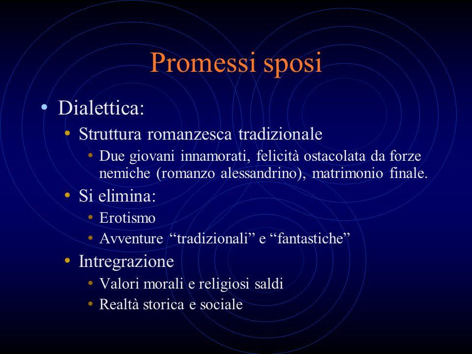 Promessi sposi Dialettica: Struttura romanzesca tradizionale