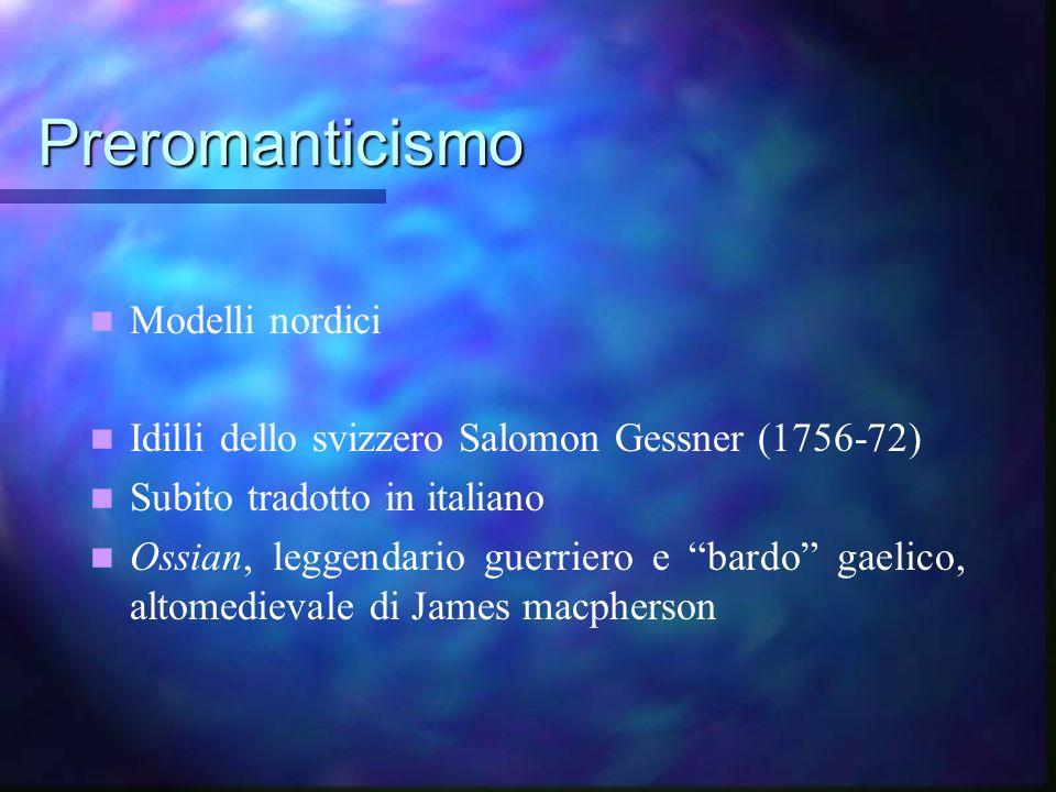 Preromanticismo Modelli nordici