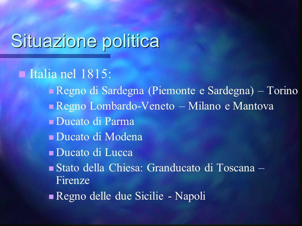 Situazione politica Italia nel 1815: