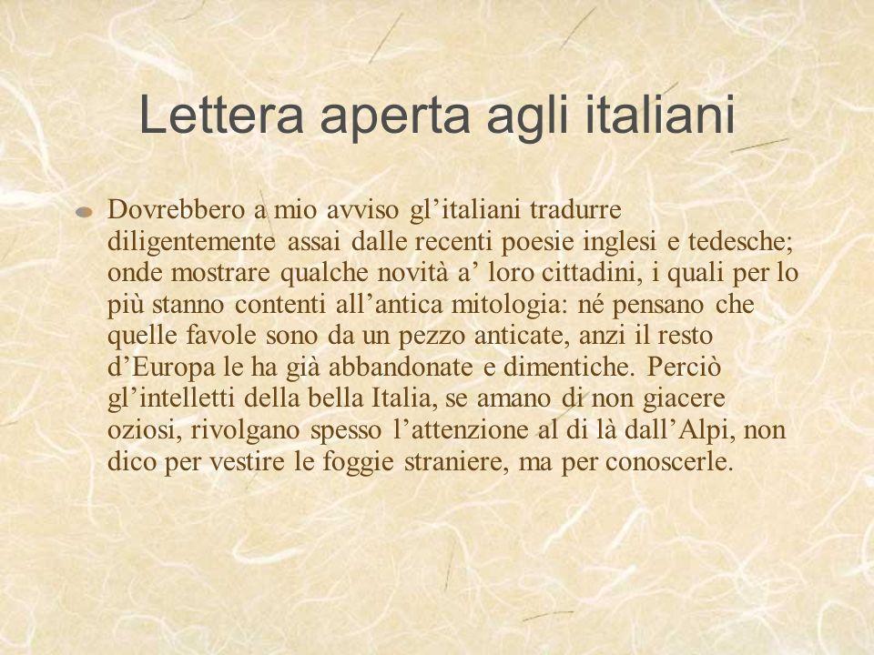 Lettera aperta agli italiani