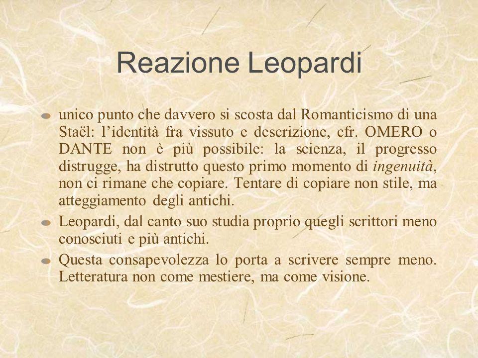 Reazione Leopardi
