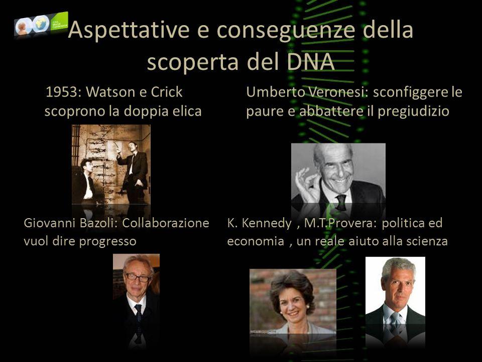 Aspettative e conseguenze della scoperta del DNA