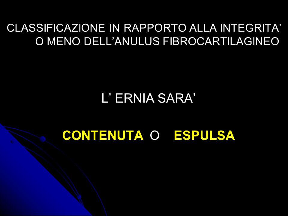 L' ERNIA SARA' CONTENUTA O ESPULSA