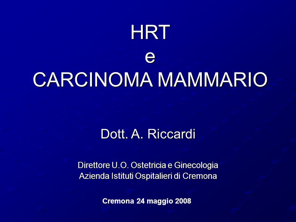 HRT e CARCINOMA MAMMARIO