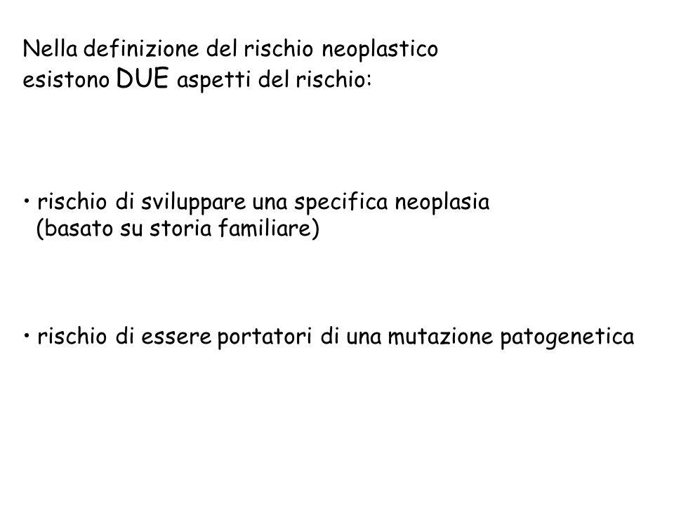 Nella definizione del rischio neoplastico