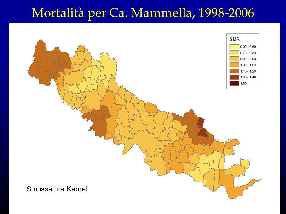 Mortalità per Ca. Mammella, 1998-2006