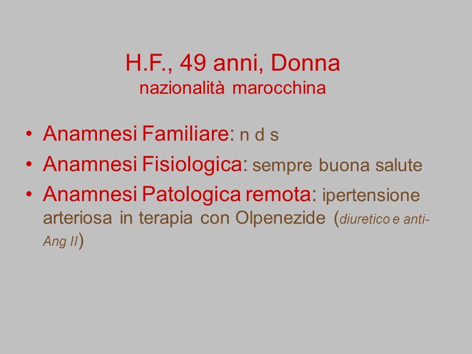 H.F., 49 anni, Donna nazionalità marocchina