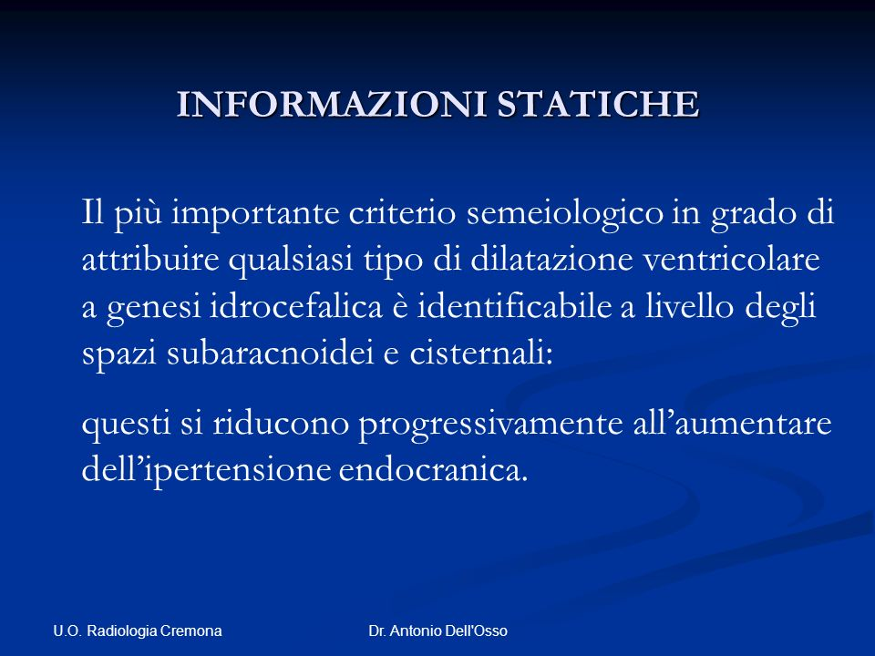 INFORMAZIONI STATICHE