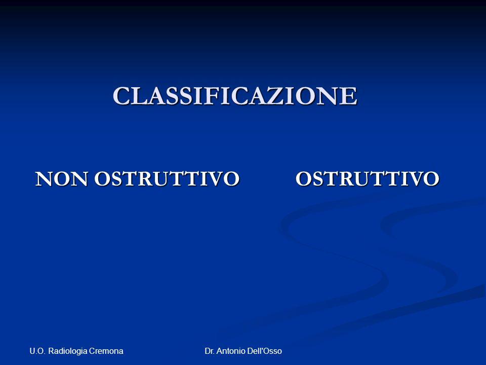 CLASSIFICAZIONE NON OSTRUTTIVO OSTRUTTIVO U.O. Radiologia Cremona