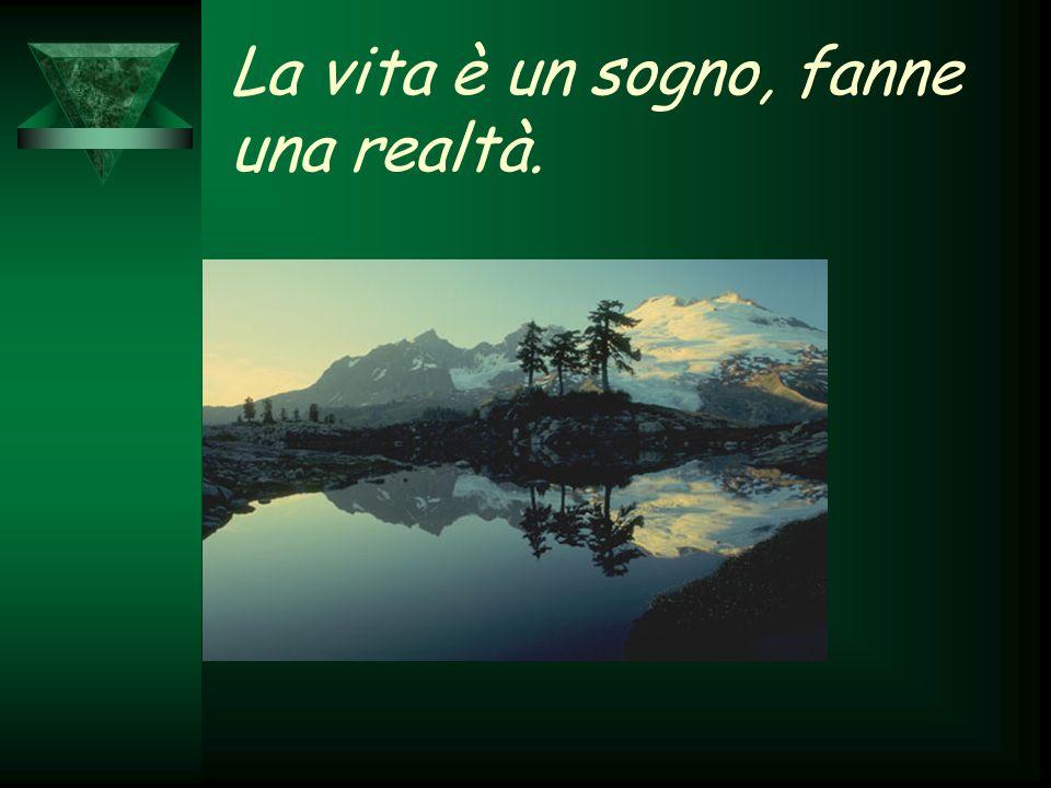 La vita è un sogno, fanne una realtà.