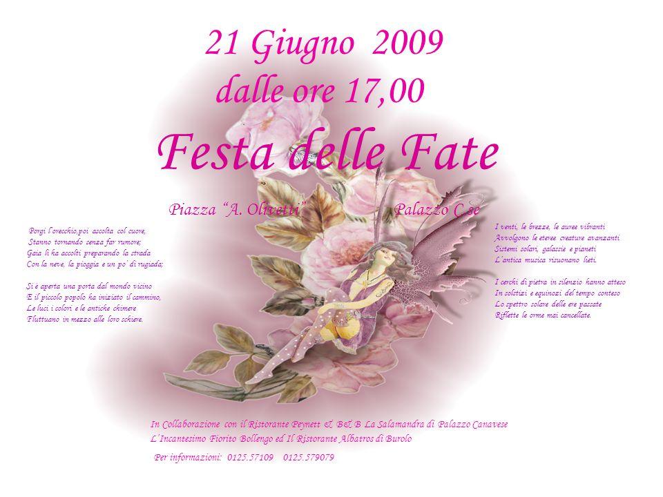 Festa delle Fate Piazza A. Olivetti Palazzo C.se