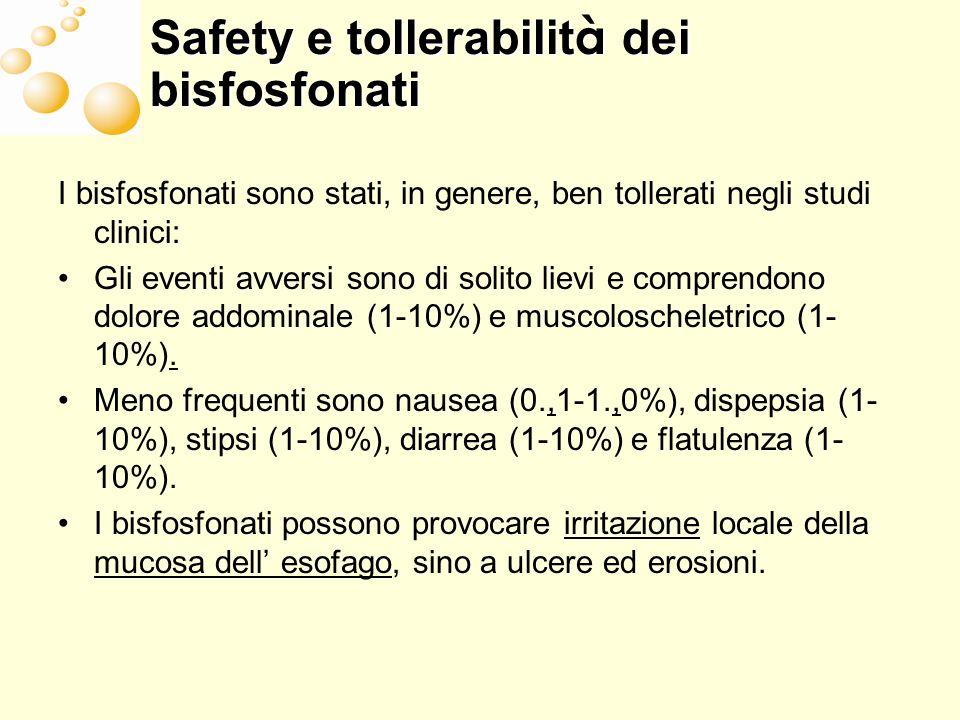 Safety e tollerabilità dei bisfosfonati