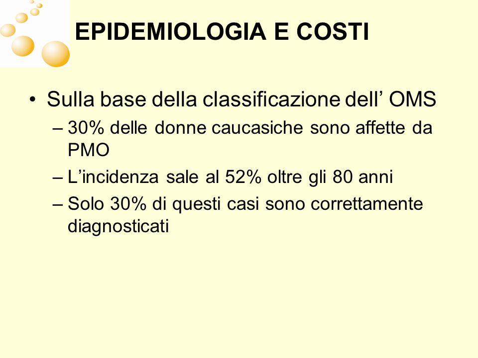 EPIDEMIOLOGIA E COSTI Sulla base della classificazione dell' OMS