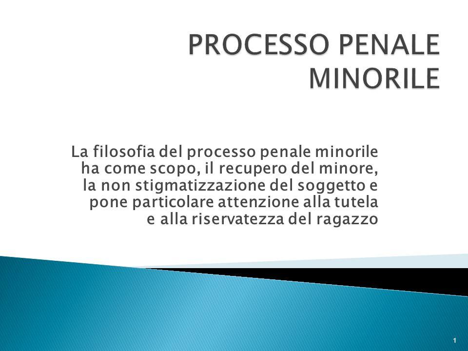 PROCESSO PENALE MINORILE