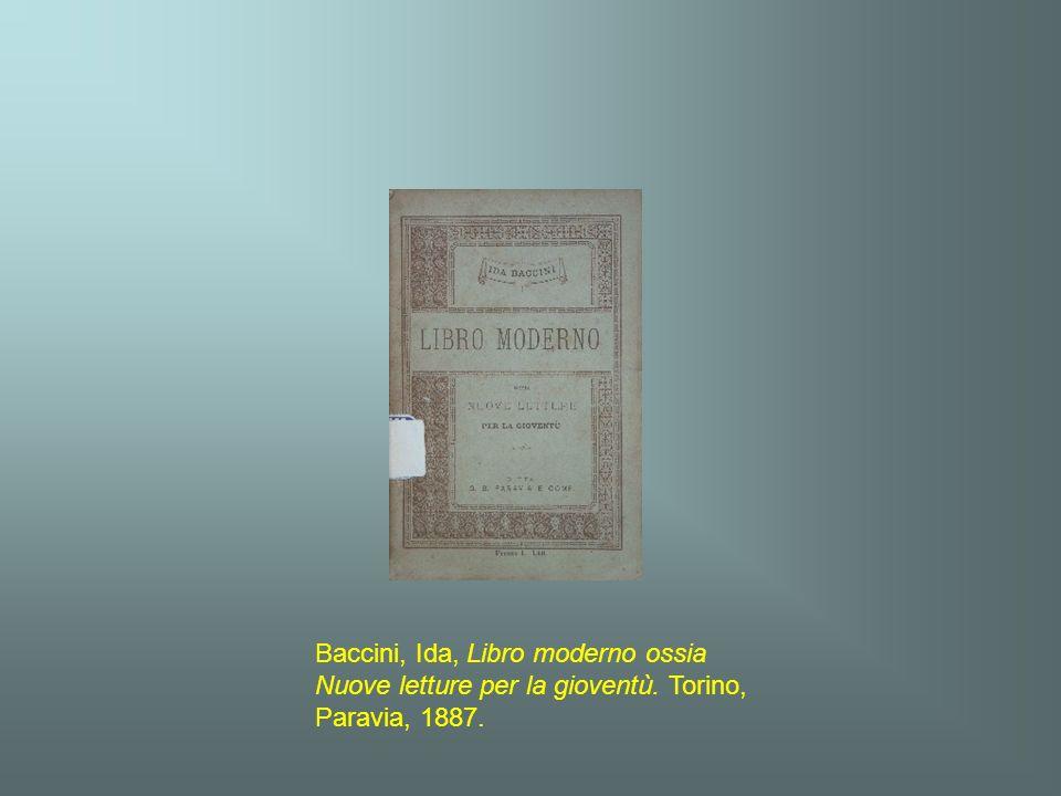 Baccini, Ida, Libro moderno ossia Nuove letture per la gioventù