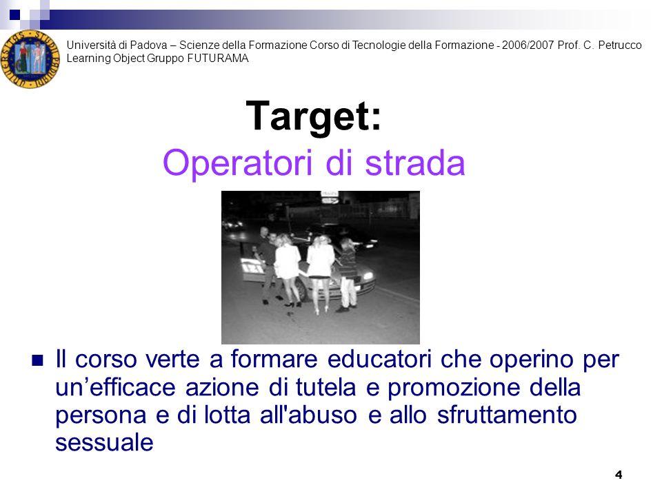 Target: Operatori di strada