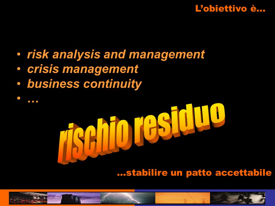 rischio residuo risk analysis and management crisis management