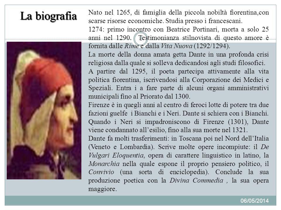 La biografia Nato nel 1265, di famiglia della piccola nobiltà fiorentina,con scarse risorse economiche. Studia presso i francescani.