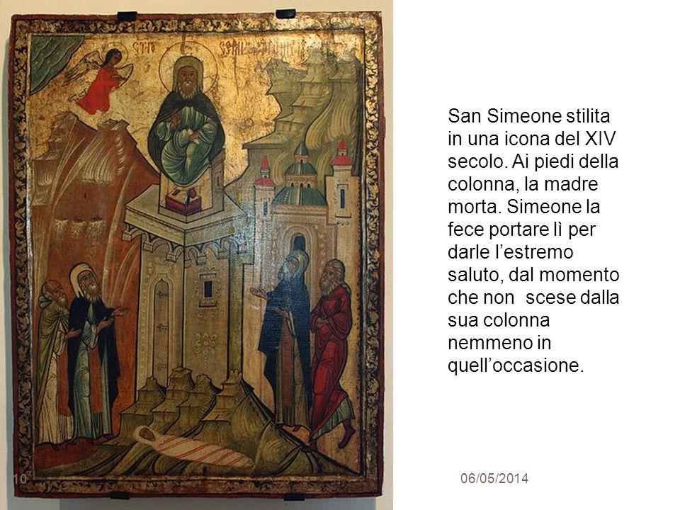 San Simeone stilita in una icona del XIV secolo