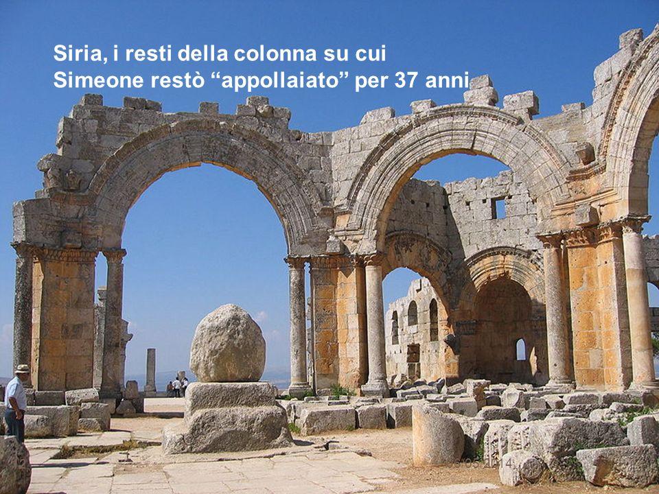 Siria, i resti della colonna su cui Simeone restò appollaiato per 37 anni