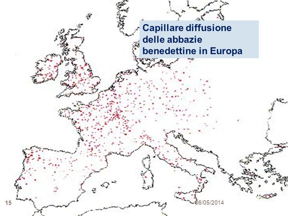 Capillare diffusione delle abbazie benedettine in Europa
