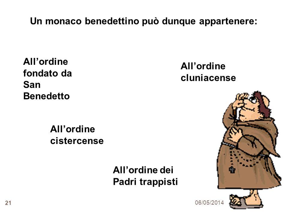 Un monaco benedettino può dunque appartenere: