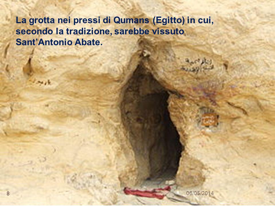 La grotta nei pressi di Qumans (Egitto) in cui, secondo la tradizione, sarebbe vissuto Sant'Antonio Abate.