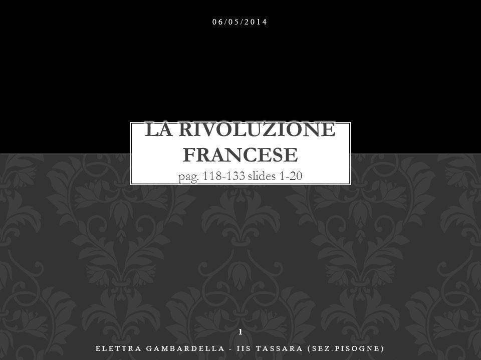 LA RIVOLUZIONE FRANCESE pag. 118-133 slides 1-20