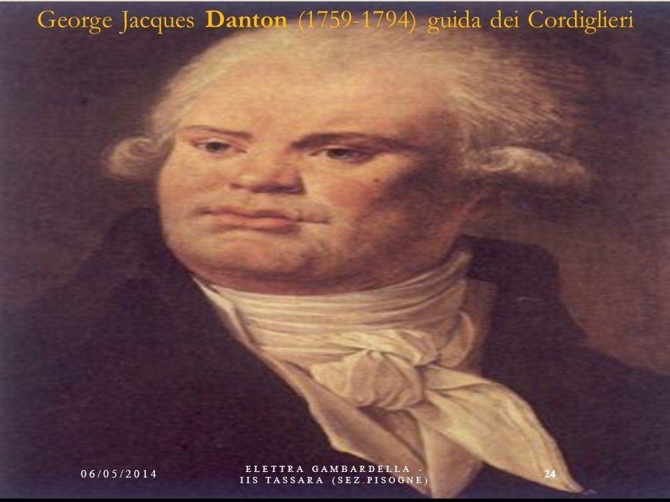 George Jacques Danton (1759-1794) guida dei Cordiglieri