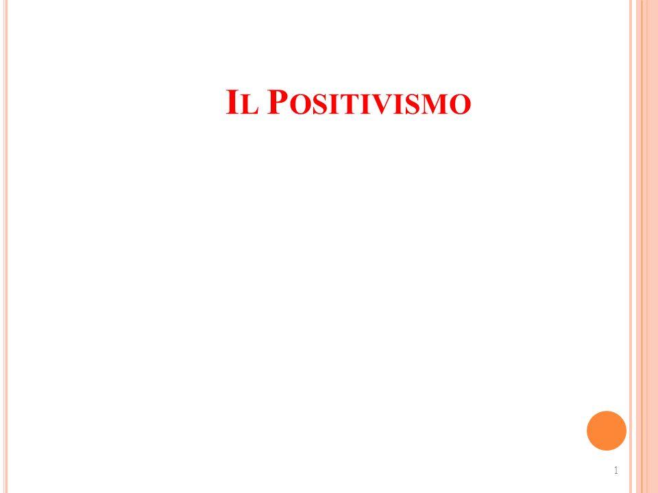 Il Positivismo 1