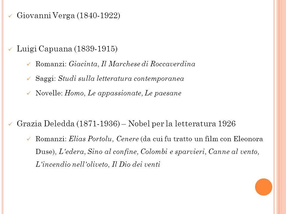 Grazia Deledda (1871-1936) – Nobel per la letteratura 1926