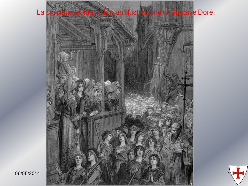 La crociata dei fanciulli in un illustrazione di Gustave Doré.