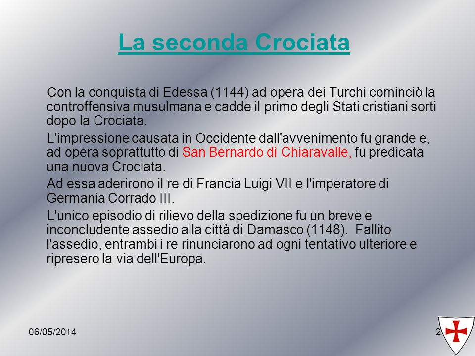 La seconda Crociata