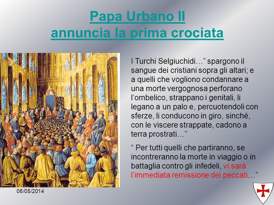 Papa Urbano II annuncia la prima crociata