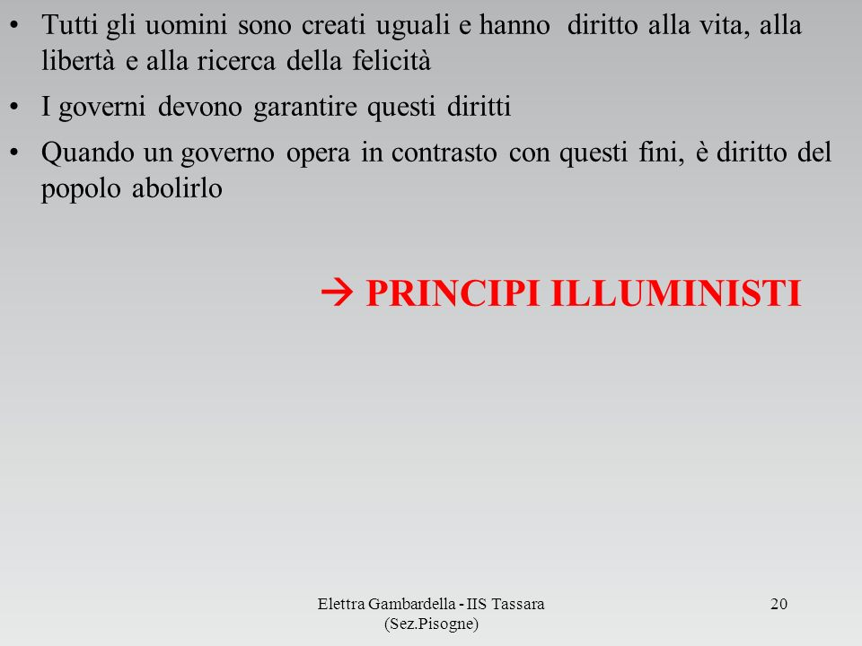 PRINCIPI ILLUMINISTI