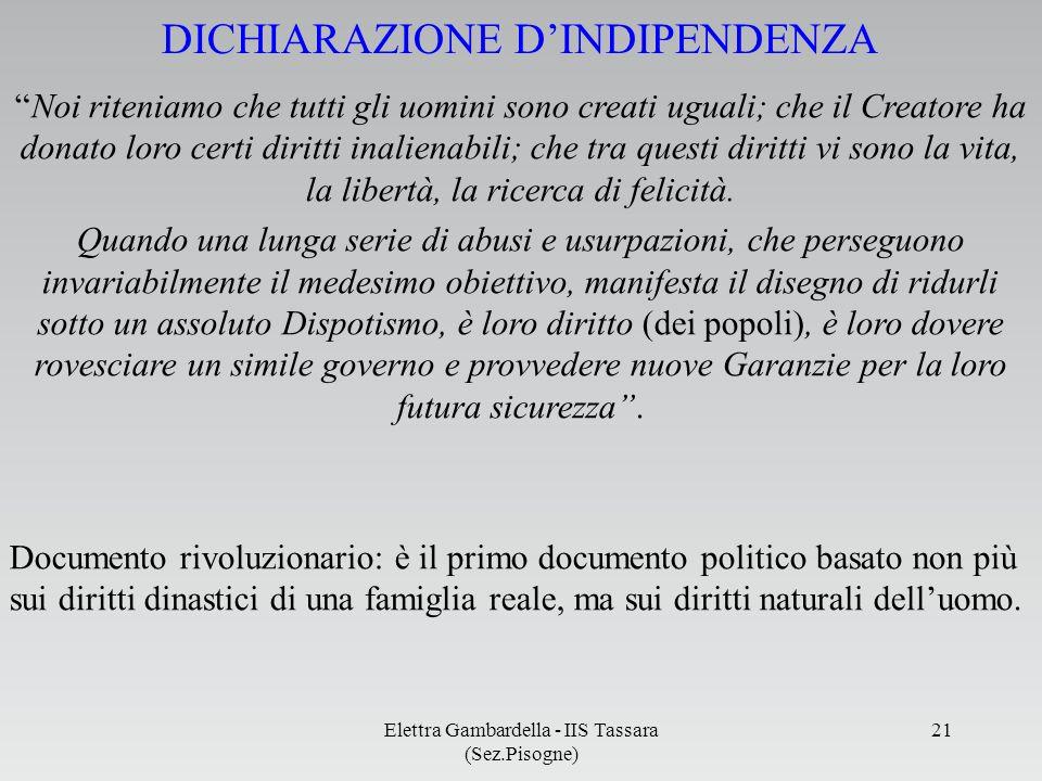 DICHIARAZIONE D'INDIPENDENZA