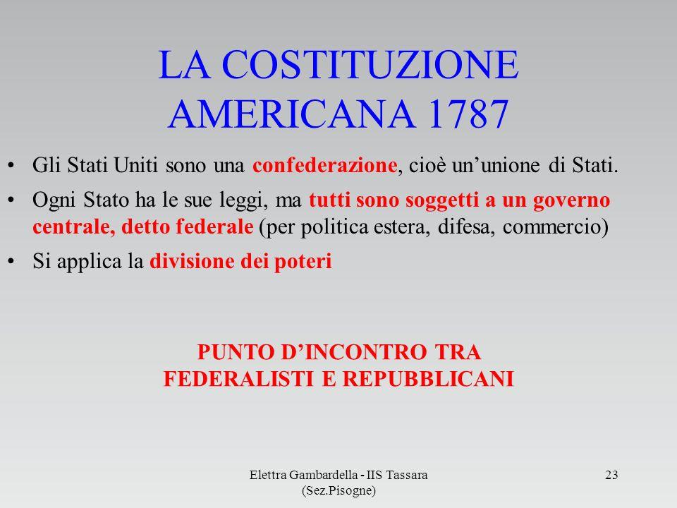 PUNTO D'INCONTRO TRA FEDERALISTI E REPUBBLICANI