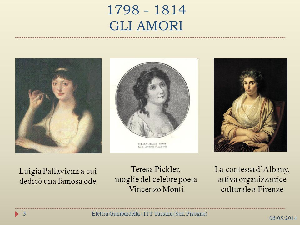 1798 - 1814 GLI AMORI Teresa Pickler,