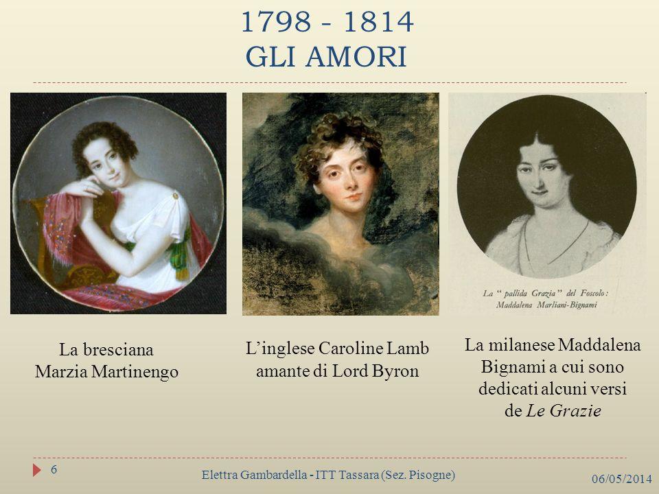 1798 - 1814 GLI AMORI L'inglese Caroline Lamb amante di Lord Byron