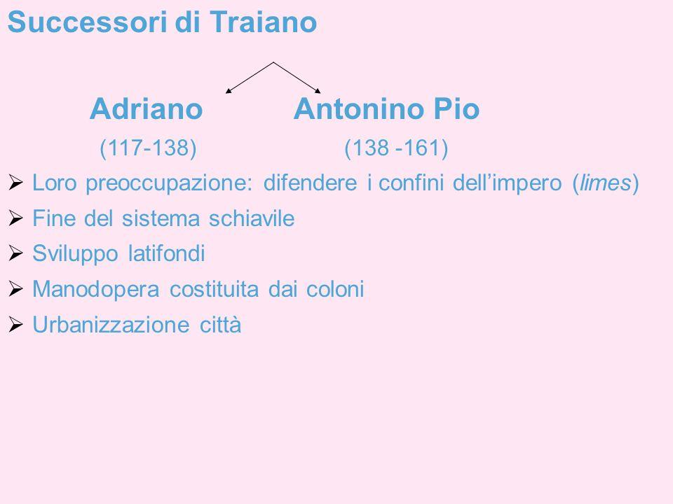 Successori di Traiano Adriano Antonino Pio
