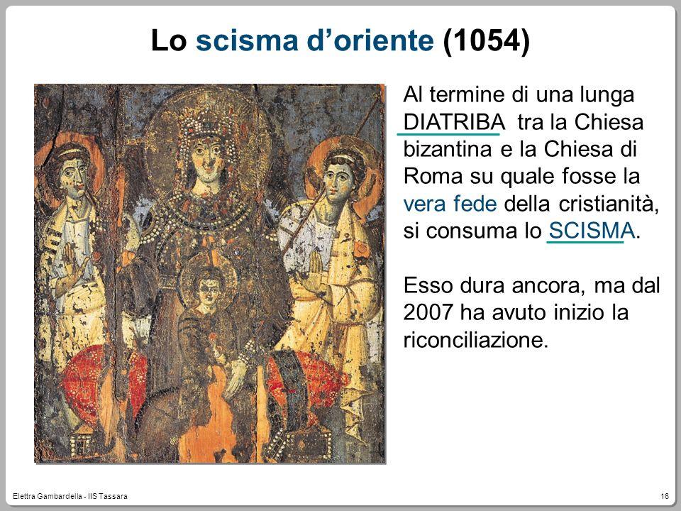 Lo scisma d'oriente (1054)