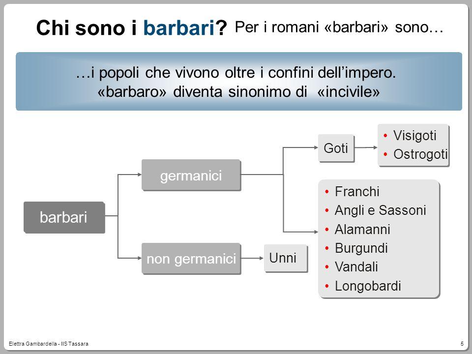 Chi sono i barbari Per i romani «barbari» sono…