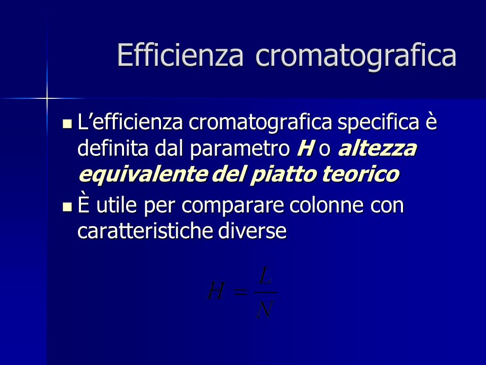 Efficienza cromatografica