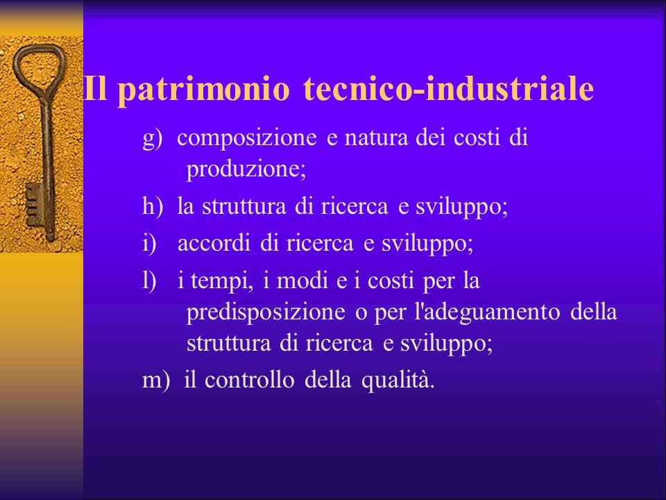 Il patrimonio tecnico-industriale