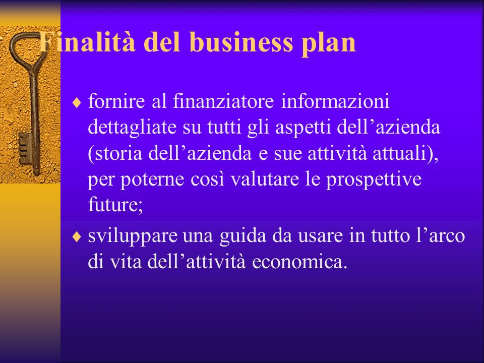 Finalità del business plan