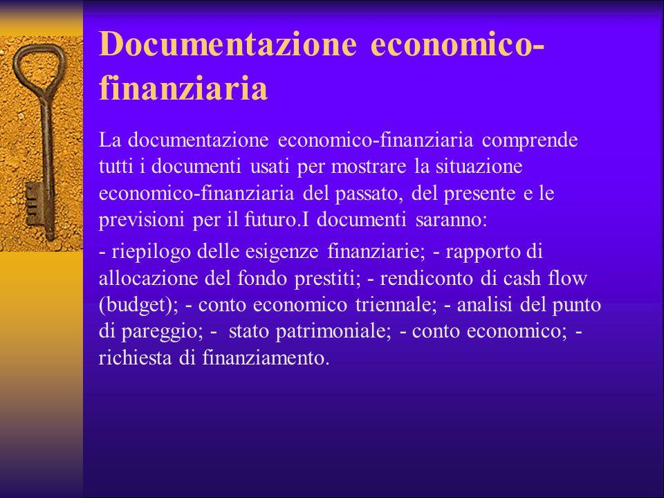 Documentazione economico-finanziaria