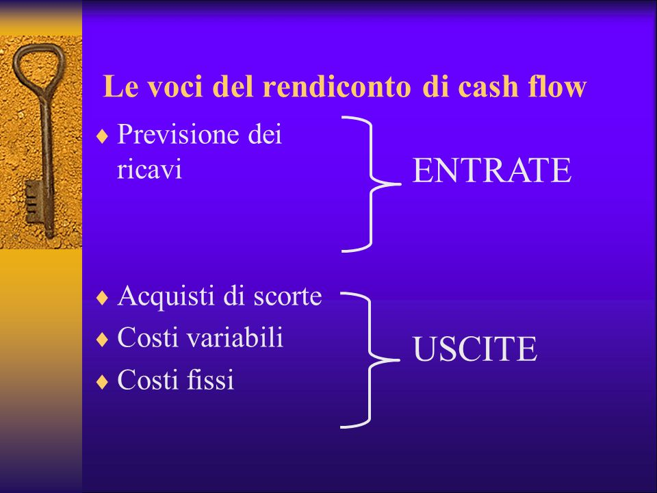 Le voci del rendiconto di cash flow