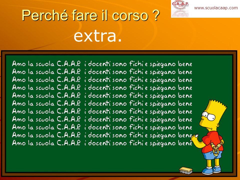 Perché fare il corso www.scuolacaap.com extra.