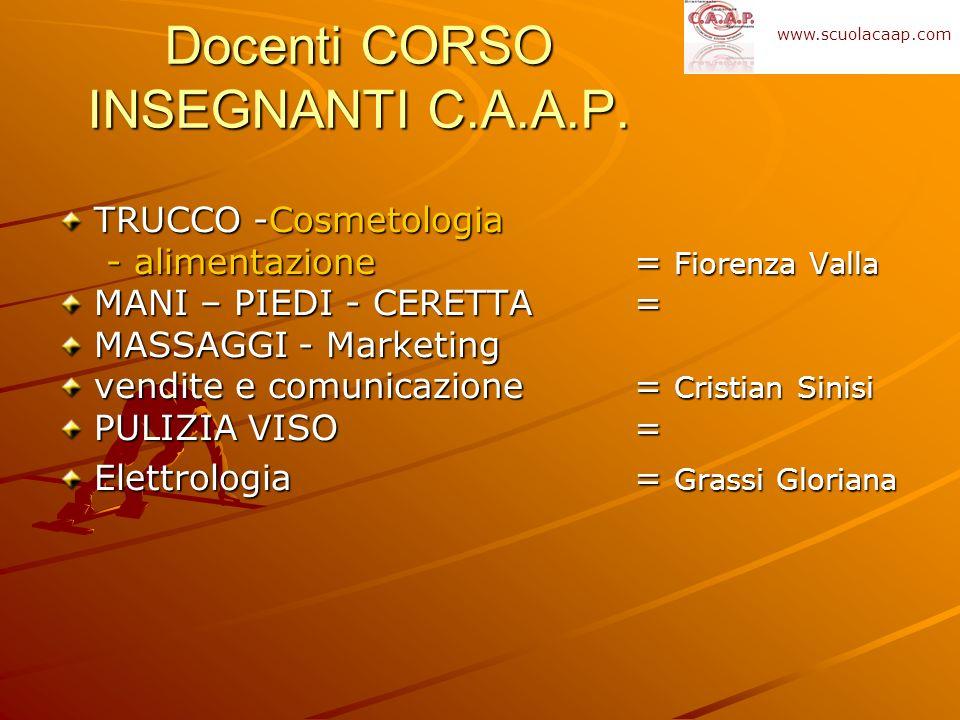Docenti CORSO INSEGNANTI C.A.A.P.