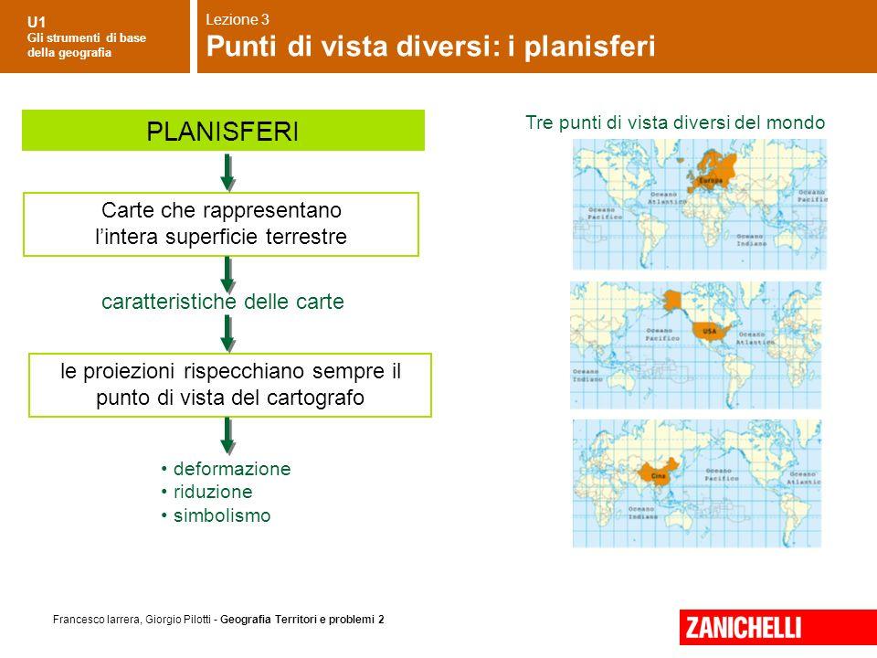 Punti di vista diversi: i planisferi